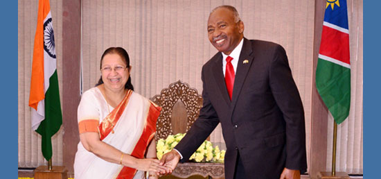 <p>Visit of the Hon'ble Speaker of the National Assembly of Namibia to India from 27-31 March 2017</p>