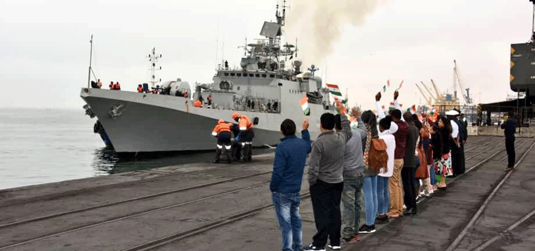 <p>Visit of INS Tarkash to Port of Walvis Bay from 15-18 September 2019</p>