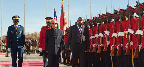 <p>Visit of Hon&#39;ble President of India to&nbsp;Namibia</p>