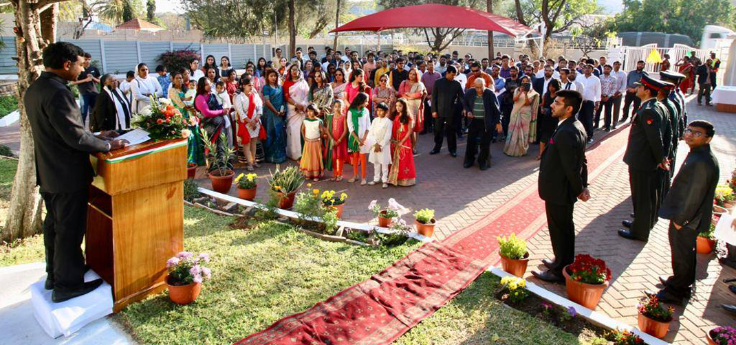 <p>73rd Independence Day celebrations at the Chancery</p>