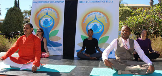 <p>The Second International Day of Yoga was celebrated at Parliament Garden, Windhoek on 25th June 2016. Hon. Muesee Kazapua, Mayor of Windhoek also participated in the event as Chief Guest.</p>