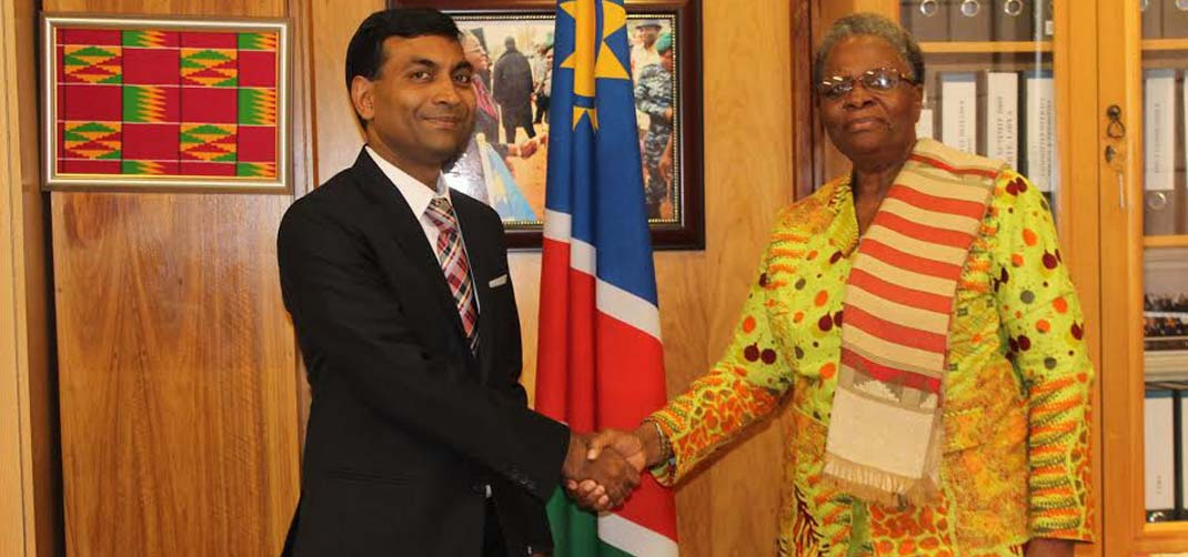 <p>High Commissioner of India calls on  the Deputy Prime Minister and Minister of International Relations and Cooperation of the Republic of Namibia</p>