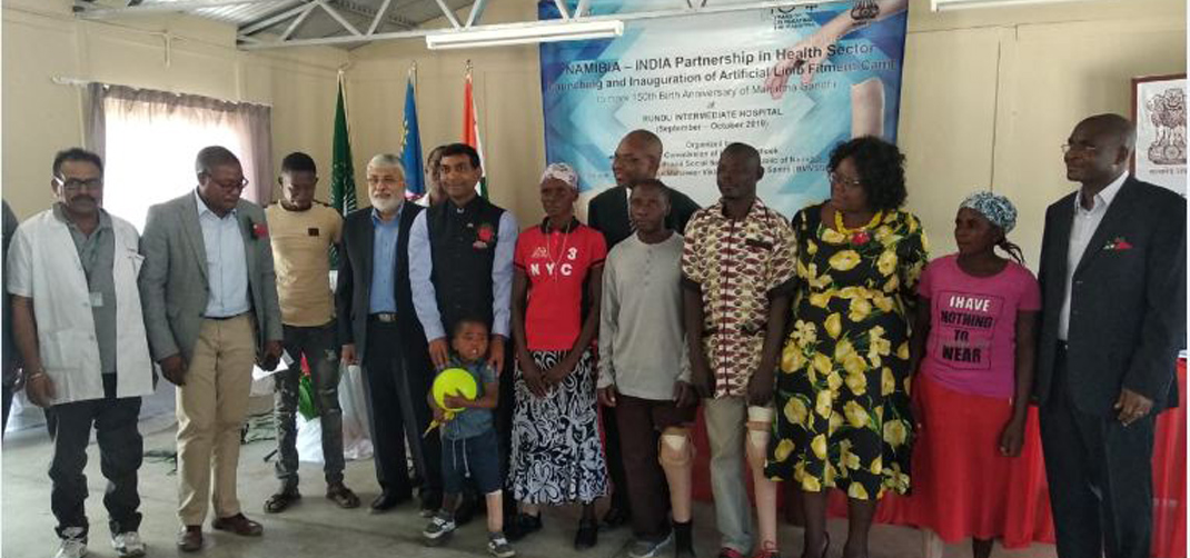 <p><strong>Free camp to provide artificial limbs inaugurated in Rundu under Namibia-India Partnership</strong></p>