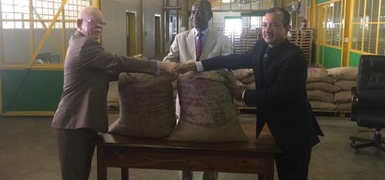 <p><big>India handed over 1000 MT of rice to Namibia as drought assistance</big></p>