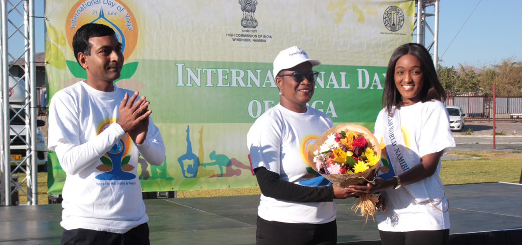 <p>Celebration of 5th International Day of Yoga in Windhoek on 15 June 2019</p>