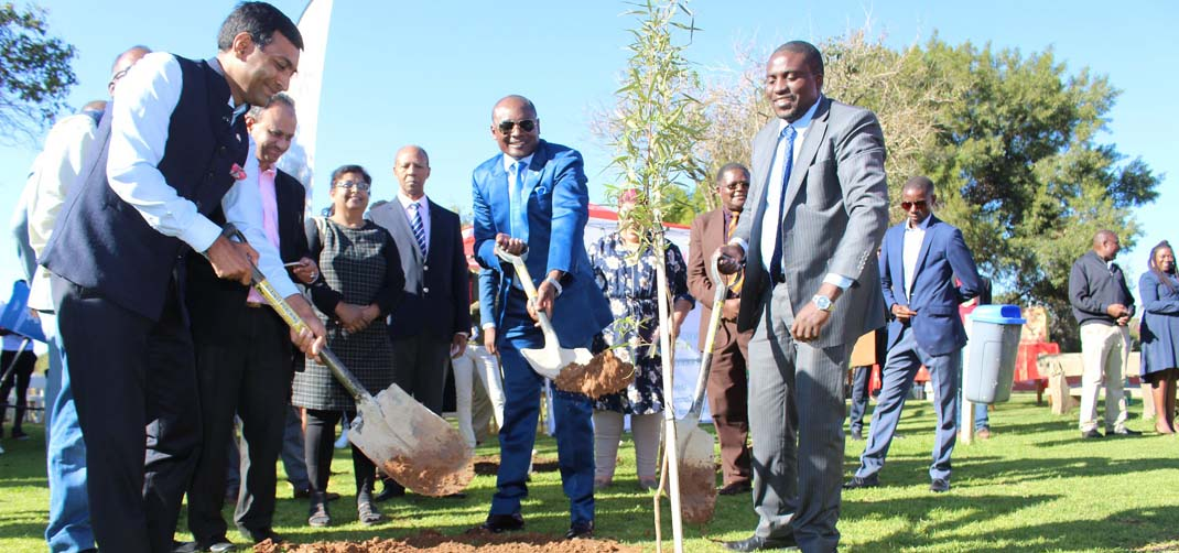 <p> Planting of 150 trees on World Environment Day and to mark Gandhi@150</p>